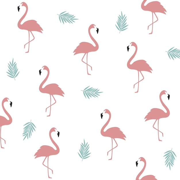 Wallpapers Fofo Cutes Seamless Flamingo Pattern Background Flamingo Poster