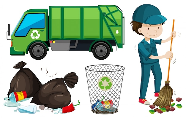 Garbage Truck Vectors Photos And Psd Files Free Download