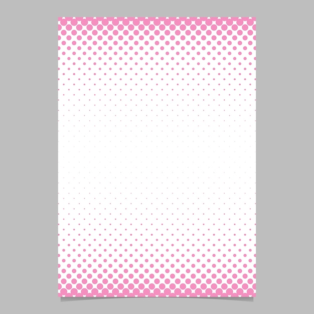 Simple abstract halftone dot pattern brochure design template