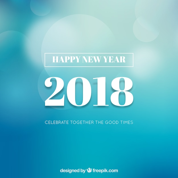 Simple blue new year background Vector Free Download