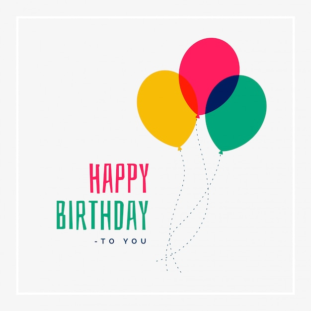 Simple happy birthday greeting design Vector Free Download - greeting