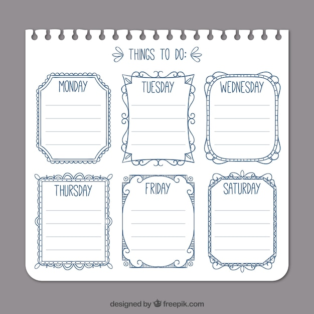 Simple to-do list template Vector Free Download