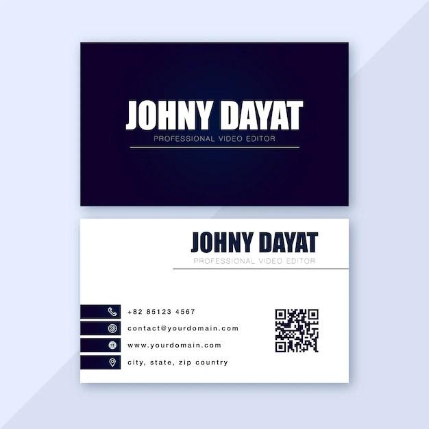 Simple personal business card Vector Premium Download