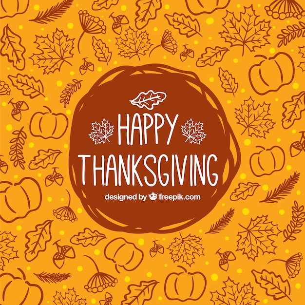Thankful Wallpaper Quotes Sketchy Thanksgiving Background Vector Free Download