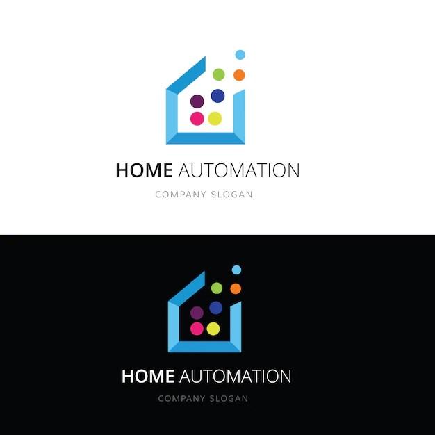 Smart home logohome and house technology logo Vector logo template