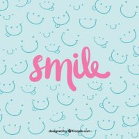 Smile background design Vector