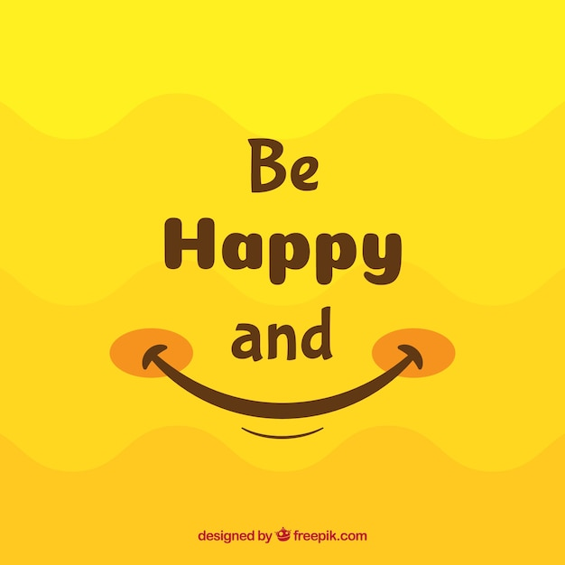 Beautiful Quotes And Inspirational Wallpapers Hd Smile Background In Yellow Tones Vector Free Download