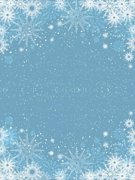 Iphone 5 Falling Snow Wallpaper Snowflakes On Light Blue Background Vector Free Download
