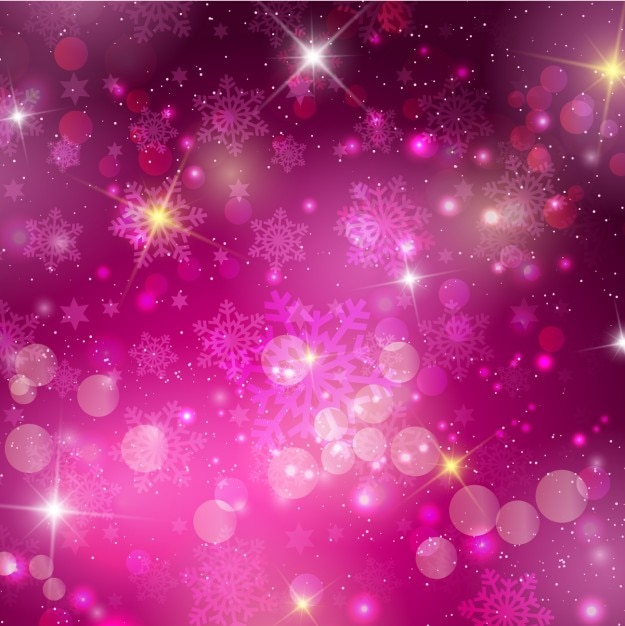 Cute Pink Glitter Wallpapers Snowflakes Purple Bokeh Background Vector Free Download
