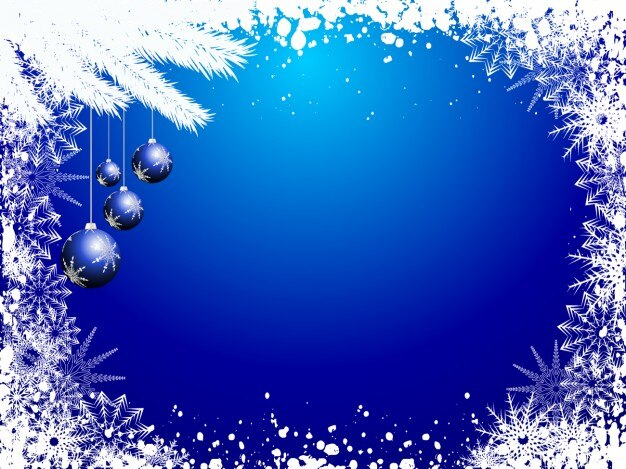 Fall Themed Wallpaper Snowy Blue Christmas Background Vector Free Download