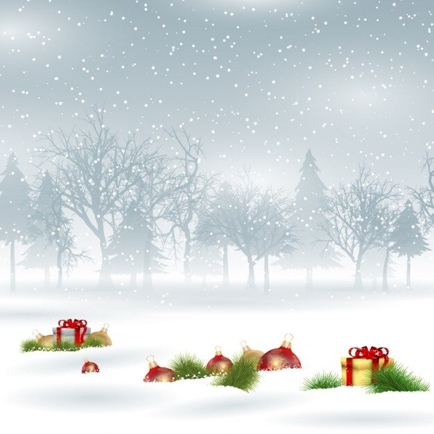 Cute Merry Christmas Wallpaper Backgrounds Snowy Christmas Background Vector Free Download
