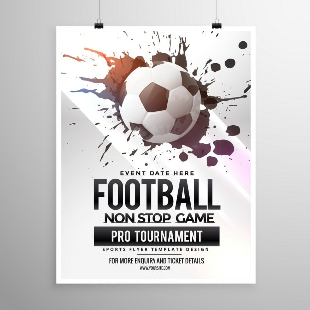 Soccer game tournament poster Vector Free Download - soccer flyer template