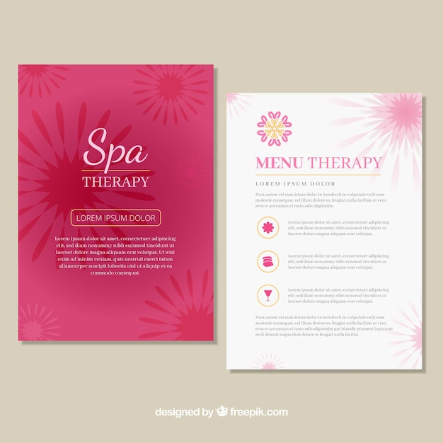 Spa center price list template Vector Free Download - price list template