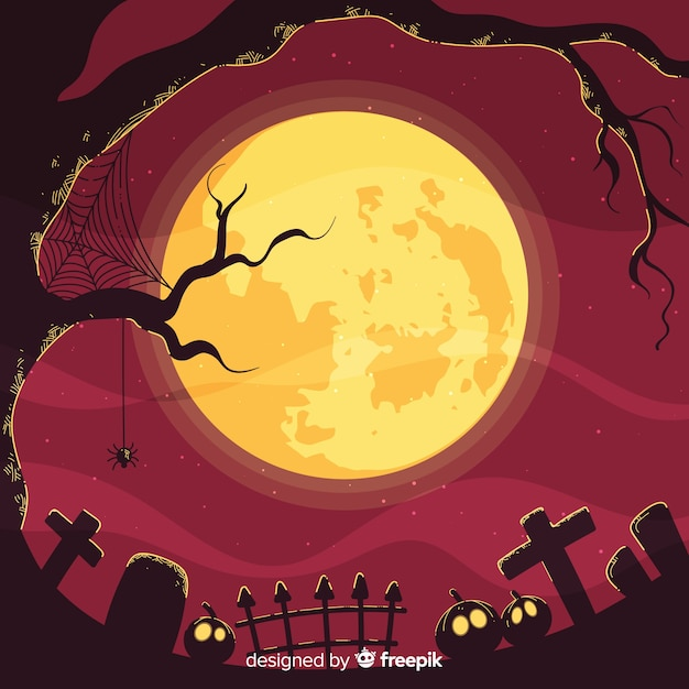 Spooky halloween background Vector Free Download