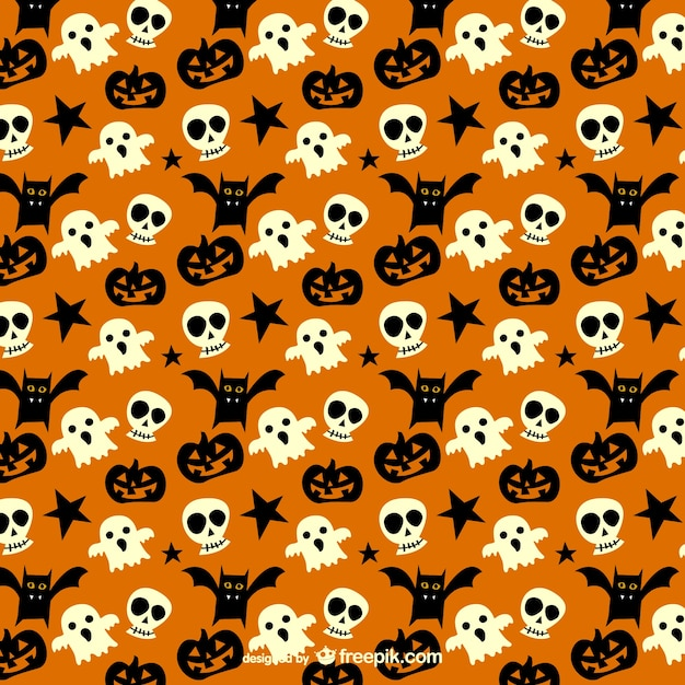 Iphone 5s Wallpaper Fall Spooky Pattern For Halloween Vector Free Download