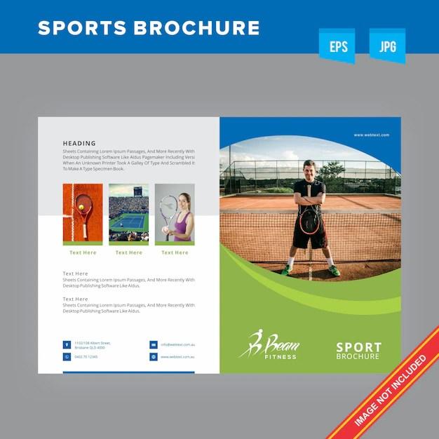 Sports Game Brochure Vector Premium Download - sports brochure