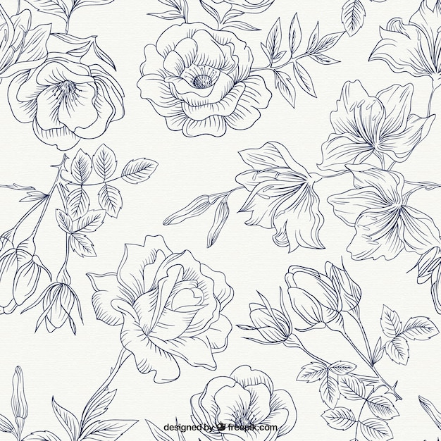 Spring Roses Pattern Vector Free Download - photo of spring