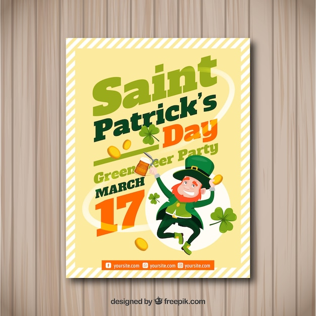 St patrick\u0027s day flyer / poster template Vector Free Download