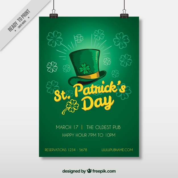 St patrick\u0027s day flyer template Vector Free Download
