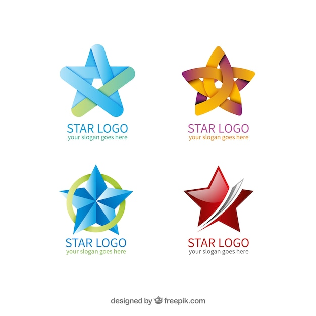 Star logo collection Vector Free Download
