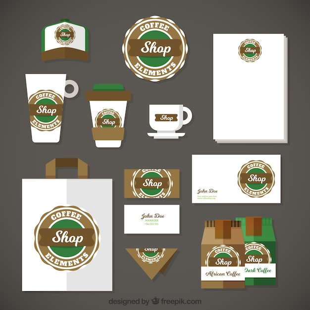Starbucks stationery set Vector Free Download