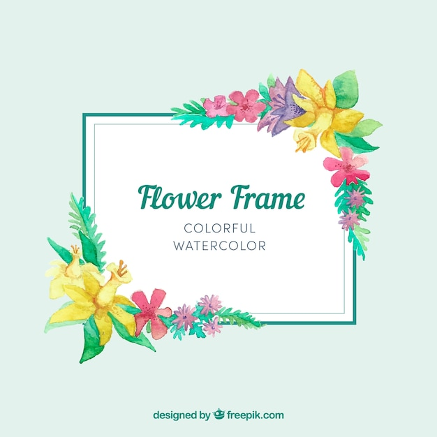 Simple Quotes Wallpaper Straight Floral Frame With Watercolors Vector Free Download