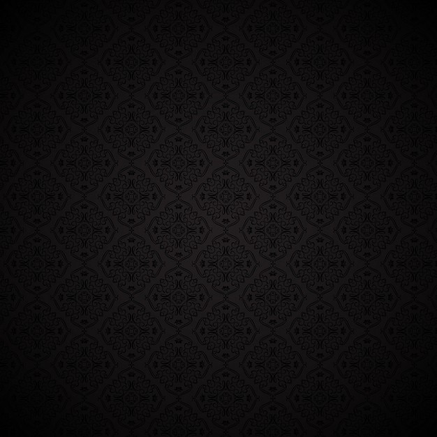 Stylish background with Damask pattern Vector Free Download