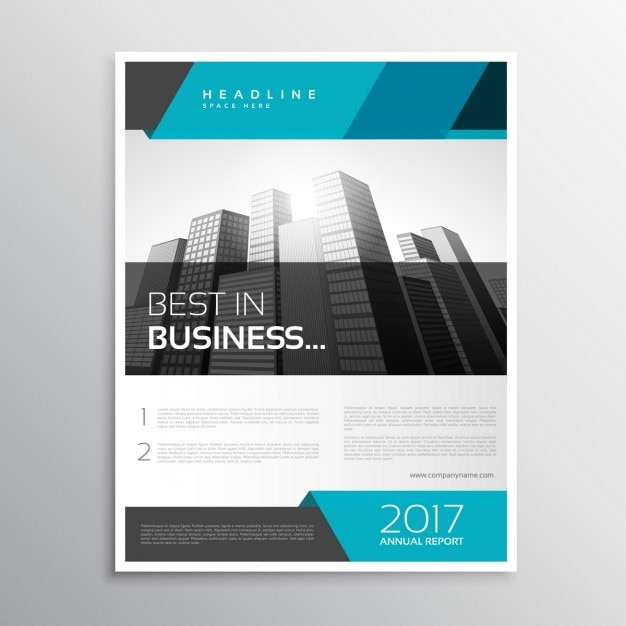 Stylish modern business flyer Vector Free Download - contemporary flyer