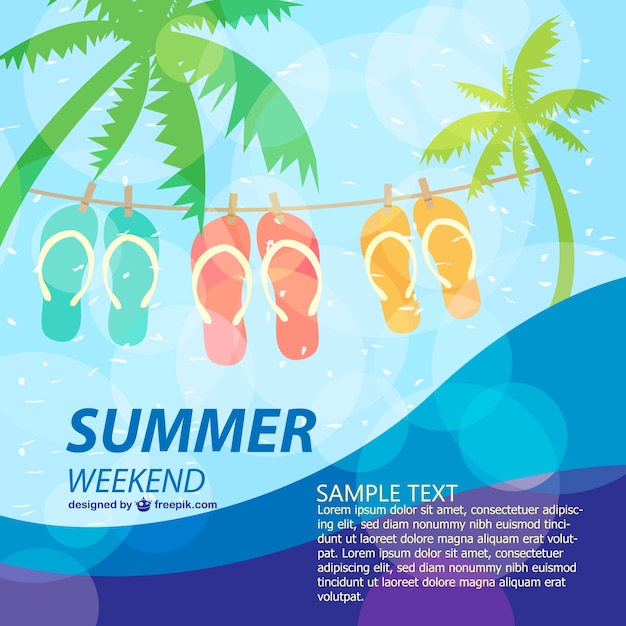 Summer poster fun holiday template Vector Free Download