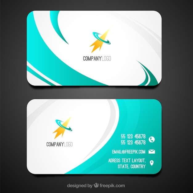 Swirly business card template Vector Free Download - business card template