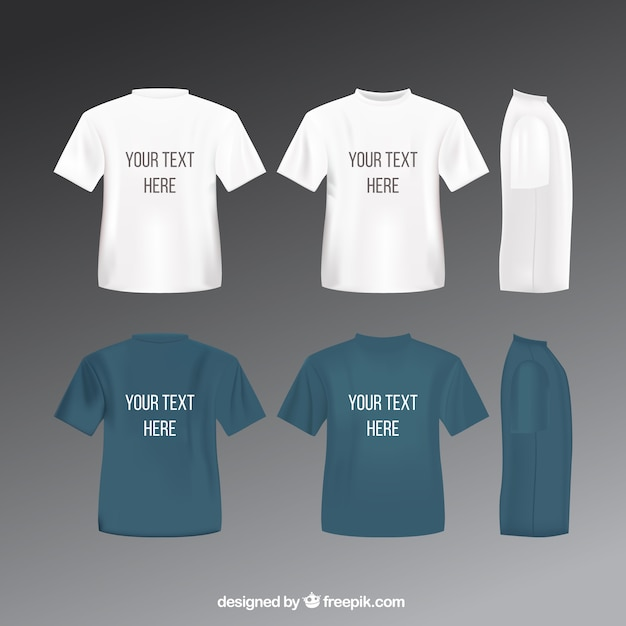 T shirts template Vector Free Download - t shirt template
