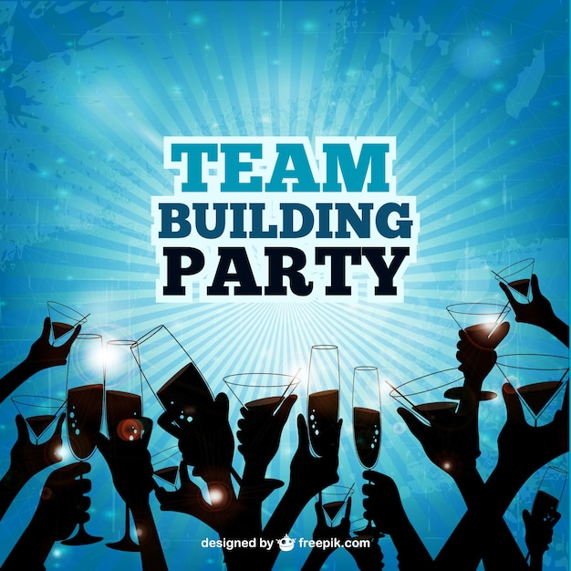 Team building party Vector Free Download