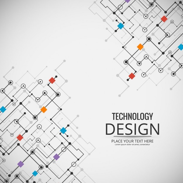 Technological background with a circuit Vector Free Download - circuit design background