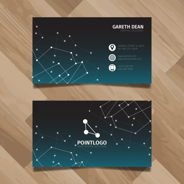 Technology business card design Vector Free Download