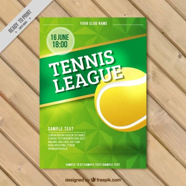 Tennis league flyer Vector Free Download