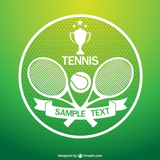 Tennis logo with rackets Vector Free Download