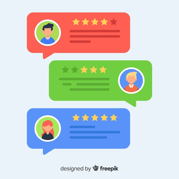 Testimonial with speech bubble design Vector Free Download