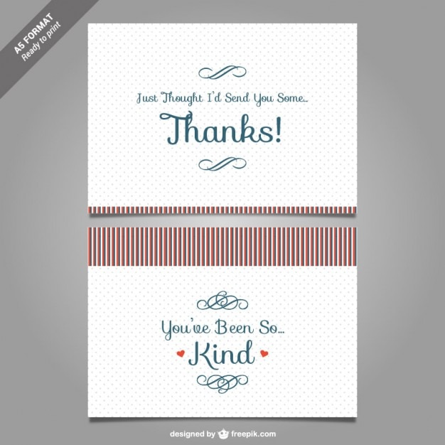 Thank you card template vector Vector Free Download