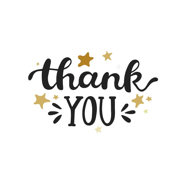 Thank you handwritten inscription Vector Premium Download