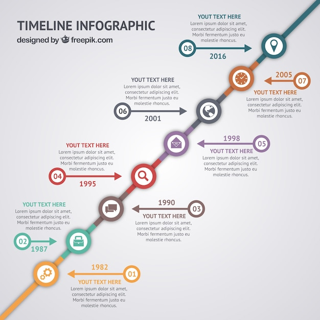 Timeline infographic cv Vector Free Download - resume cv templates free