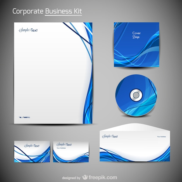 Trend merchandise packaging design Vector Free Download
