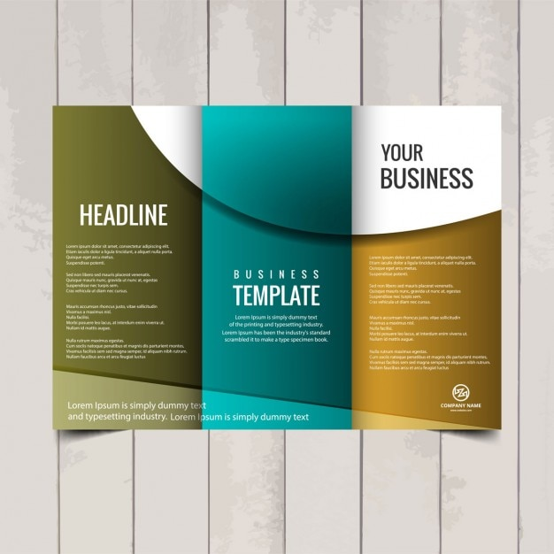 Tri fold brochure template Vector Free Download - folded brochure