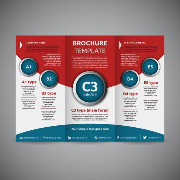 Trifold Brochure template Vector Free Download - Tri Fold Brochures Free