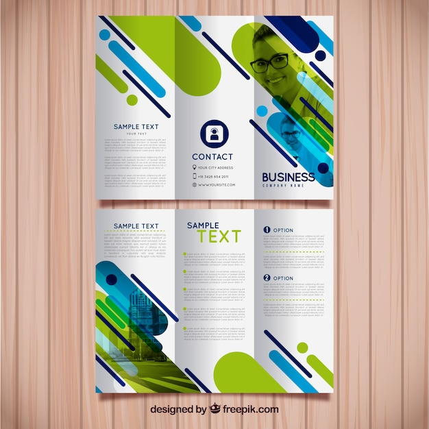 Trifold business brochure template Vector Free Download - sample business brochure