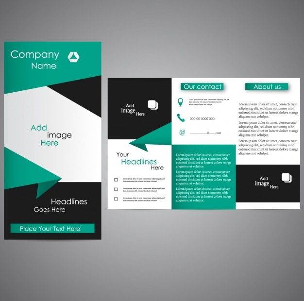 Trifold template design Vector Free Download