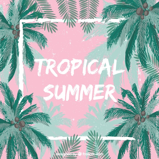 Music Quotes Wallpaper Download Tropical Summer Background Vector Free Download