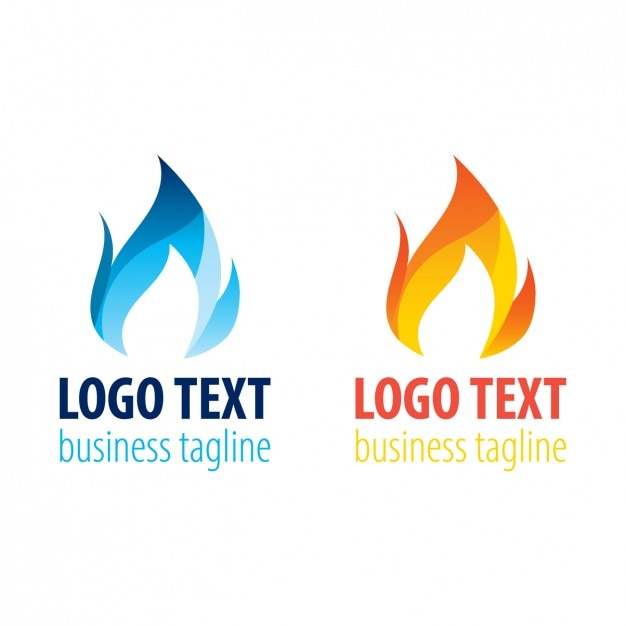 Two Flame Logo Templates Vector Free Download - flame logo
