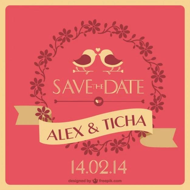 Unique wedding invitation Vector Free Download
