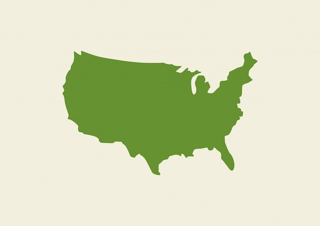 Usa map isolated on background Vector Premium Download