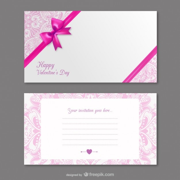 Valentine\u0027s invitation card Vector Free Download - create invitation card free download